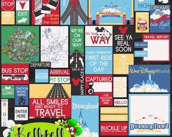 Bestemming magische zak-Disney digitale Scrapbook Kit-Disney World-Disneyland