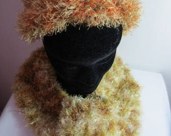 Fancy Fur Wool Hat and scarf set