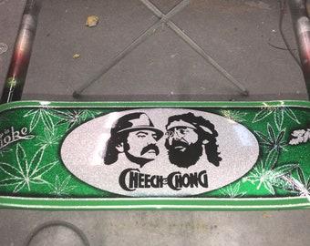 Cheech & Chong skateboard wall art