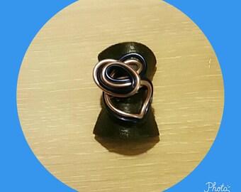 Blue rose Adjustable ring