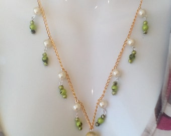 Green Apple necklace esclier