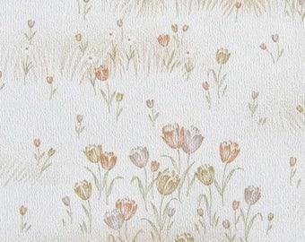 Vintage Wallpaper Tulpenfeld per meter