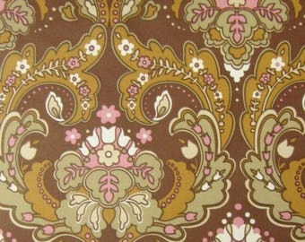 Vintage Wallpaper Praliné per meter