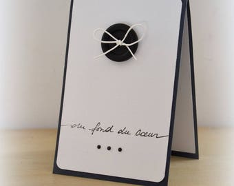 Simple black and white sympathy card