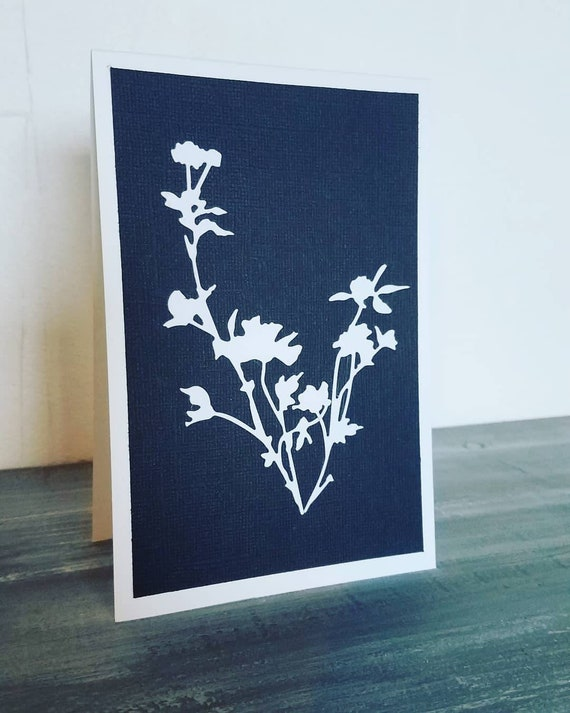 Grief Handmade Loss Cording Mourning Flowers Stickers Greeting cards Sympathy White Black With sympathy Silver Cards