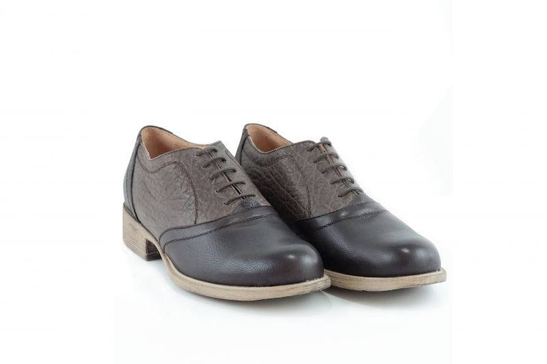 23162191b104c Comfortable ladies Oxford shoes in brown color, Women's Oxford brown shoes,  Brown leather Oxford shoes, Brown Oxford shoes
