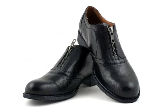 a307ca3d96a2b Casual ladies Oxford shoes in black color, Women's Oxford black shoes,  Black leather Oxford shoes, Black Oxford shoes