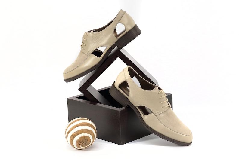 Beige oxfords Women beige shoes Beige leather oxford shoes Beige leather oxfords Beige suede shoes Beige leather shoes
