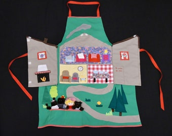 Apron tale, Goldilocks and the 3 bears, stories, nursery