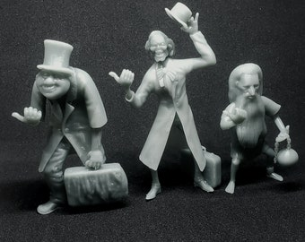 Hitchhiking Ghosts from the Haunted Mansion 3D printed figurines Fan Art