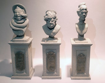 Haunted Mansion bust sculpture set. Fan Art