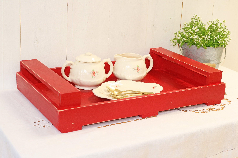 Wooden Serving Tray Kitchen Decor Ideas Ottoman Tray