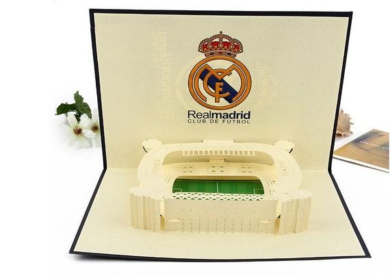 3d Pop Up Card Spanish Real Madrid Football Santiago Bernabéu Stadium Birthday Father S Day Valentines Christmas Anniversay New Year Gift