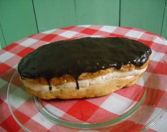 Fake Food Prop - Fake Chocolate Bar Donut - Bakery Display - Croissant Display - Chocolate Eclair - Fake Donut - Bakery Display - Gift