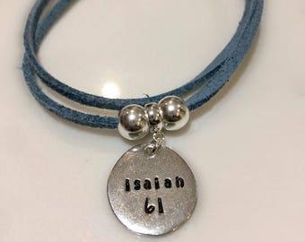 Charm bracelet 'Bible verse'