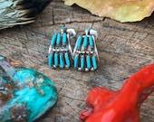 Sterling Vintage Zuni Turquoise Earrings