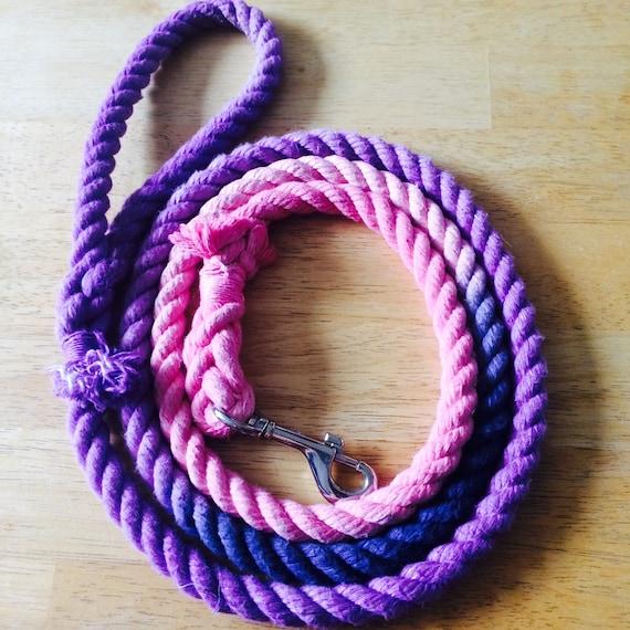 Laisse pour chien corde à la main avec des couleurs personnalisées