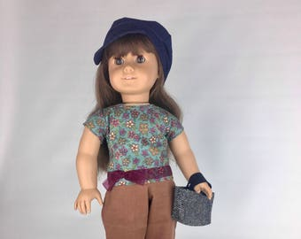 Ribbon Bow Blouse - 18 Inch Doll Clothes, AG Doll Shirt, Handmade Ribbon Bow Blouse for American Girl Doll
