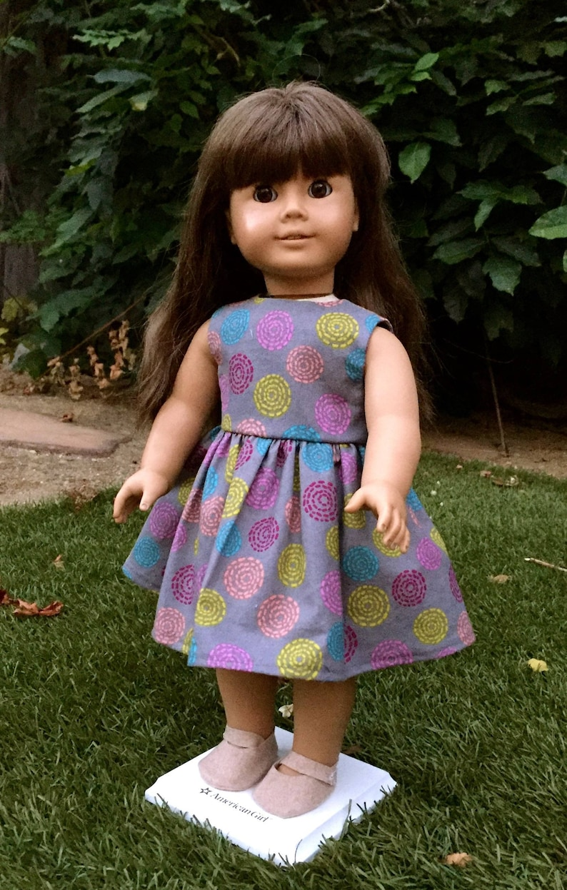 51d1e413b9f Circles Play Dress 18 Inch Doll Clothes AG Doll Dress