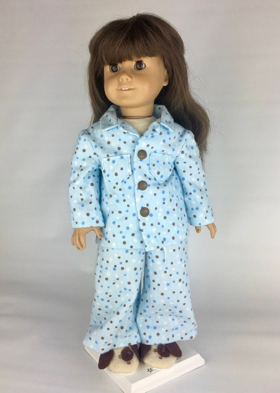 Red  Corduroy Jumper and Floral Blouse 2pc Set Fits 18 inch American Girl Dolls