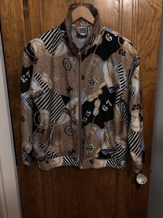 Vintage EVR 90s Silk Jacket Womens Size Medium Nau