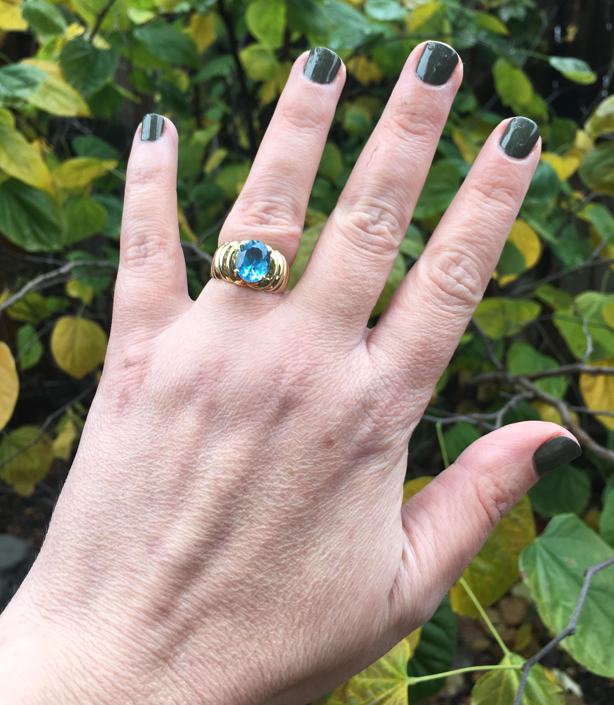 Petite Celtic Knot Birthstone Ring Sterling Silver Genuine Blue Topaz For December Size 7
