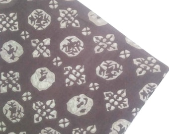 Light Brown Rayon Fabric Floral Print Fabric Designer Printed Rayon Fabric for Dress Making Fabric by Yard