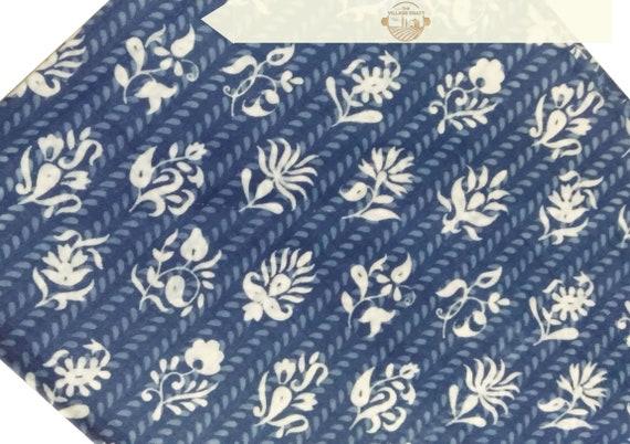 3 New 2.5 Yard Indigo Hand Block Indian 100/% Cotton Sewing Running Strip Fabrc