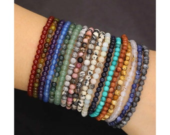 Party Bag Fillers 10 Star Charm 4mm Beads Stretchable Bracelets