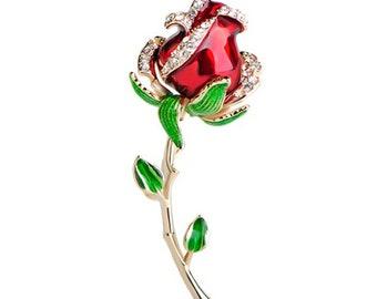 a375123d288 Rose brooch   Etsy