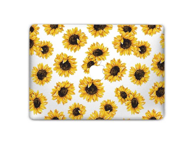 quality design 09902 8e15a Sunflowers Macbook Decal Macbook Pro Case Macbook Air Case Sunflower  Macbook Skin Laptop Skin Macbook Air Macbook Pro Skin Floral US3106