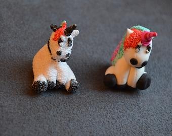 Unicorn adorns handmade pencils with moldable foam