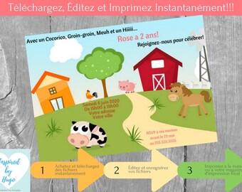 Pat Patrouille Invitation Fête D Anniversaire Fille Etsy