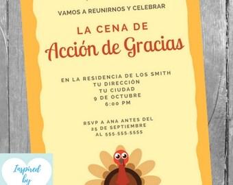Tarjeta De Acción De Gracias Etsy