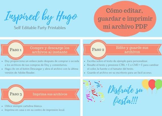 Invitación Minion Fiesta De Cumpleaños Niño Tarjeta De Agradecimiento Descarga Instantánea Invitación Español Editable Para Personalizar
