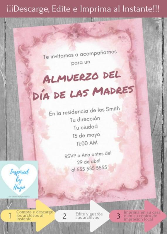Produkty Podobne Do Invitación Almuerzo Día De Las Madres