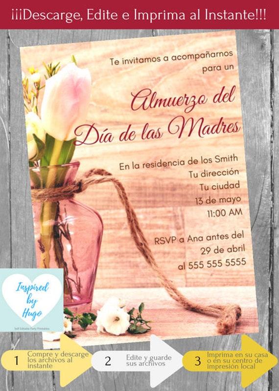 Items Similar To Invitación Almuerzo Día De Las Madres