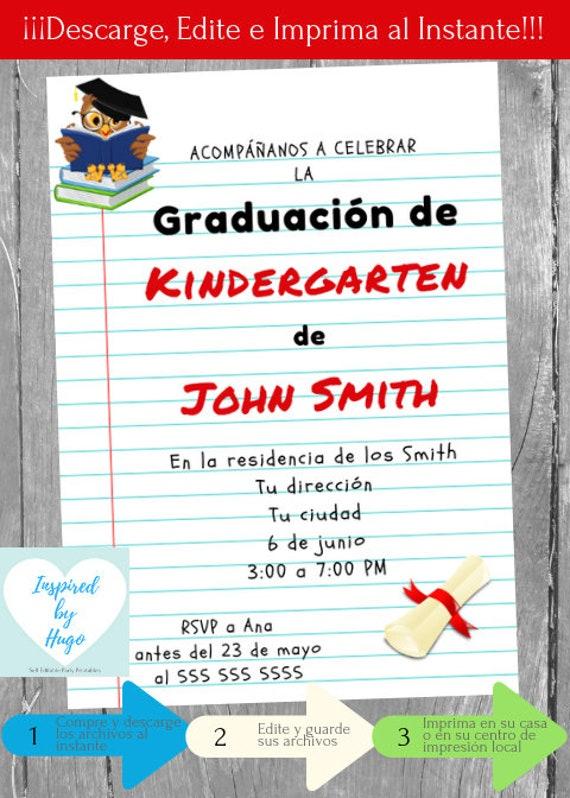 Invitación Fiesta de Graduación niños Invitación Baile de | Etsy