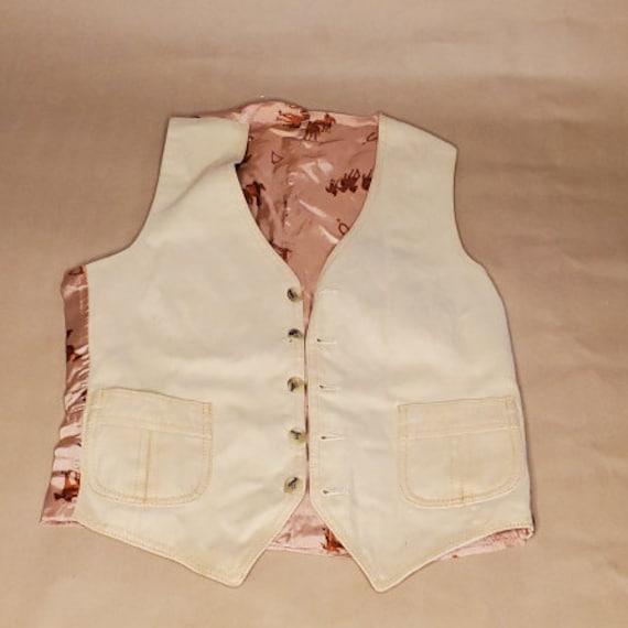 Vintage western horsey vest - image 1