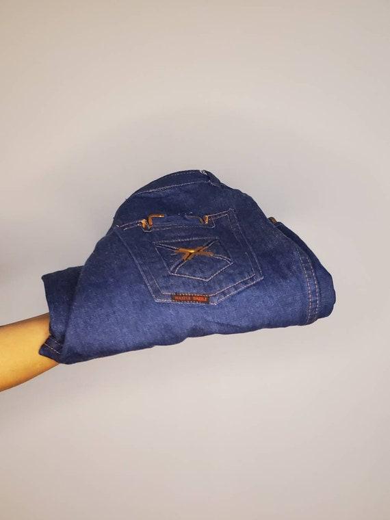 Vintage razzle dazzle bell bottom jeans