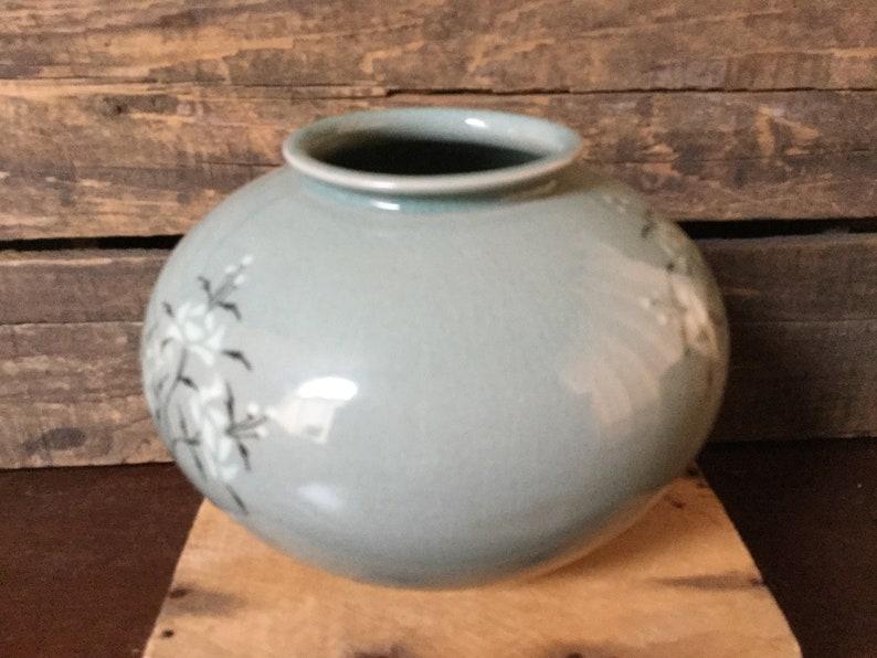 Korean Celadon Inlaid Goryeo Style Porcelain Flower Vase