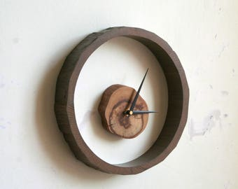 Modern wall clock Modern clock Minimalist clock Office wall clock Unique wall clock Living room clock Wooden clock Large wall clock