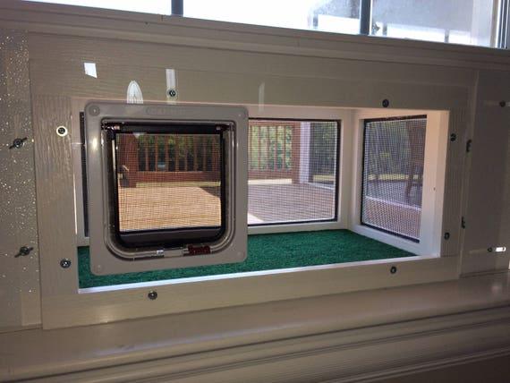 24 Inch Deluxe Kp Cat Window Patio Catio Solarium Large Deluxe Model