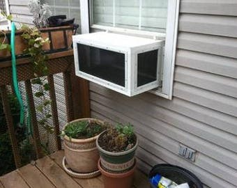 24 inch Regular KP Cat Window Patio Catio Solarium (Large model)