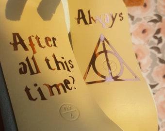 Harry Potter Wedding shoe decal sticker BLACK