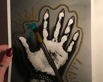 Paintbrush Hand print