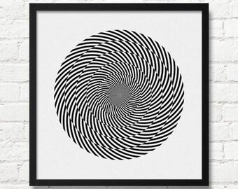 Optical Illusion Art Etsy