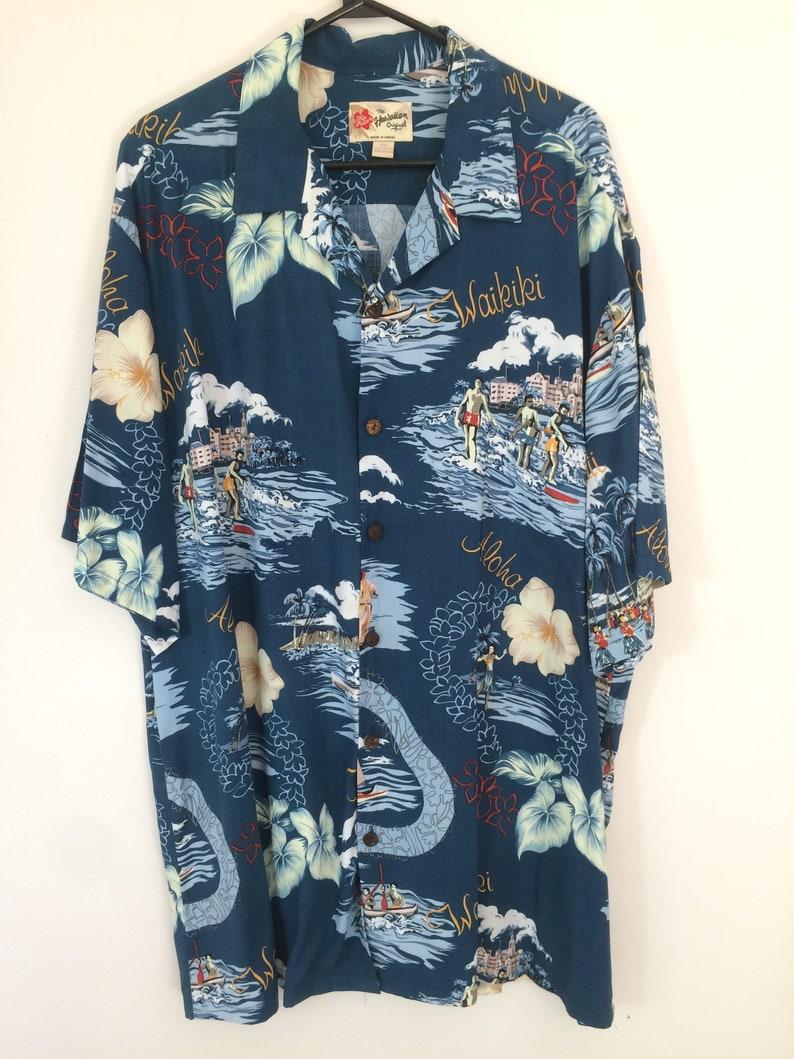 Lighthouses Mens Hawaiian Aloha Rayon Shirt