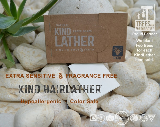 Natural Hypoallergenic Mild Shampoo Sheets – Zero Waste, Biodegradable & Color Safe - Perfect for Travel, Backpacking, Outdoor Adventures