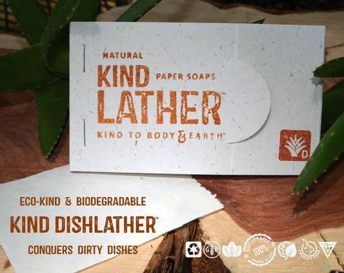 Zero Waste Natural Dish Soap – Outdoor Safe Biodegradable Paper Soap Sheets - Perfect for BIKEpacking, Camping & All Outdoor Adventures